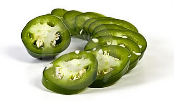 Sliced Green Jalapeno Peppers